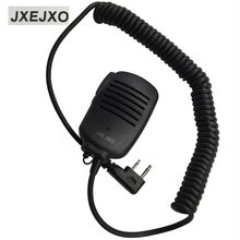 JXEJXO 2 PIN Handheld PTT Speaker Mic Microphone For ICOM V8 F21 F11 V82 V85 F26 Radios 8mm With 3.5mm Earphone Plug Wholesale(China)