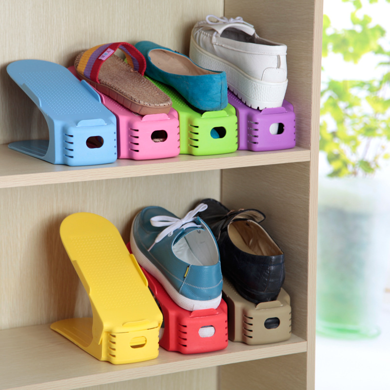 Bandung Household Items More Korean One Piece Shoe Rack Double Simple Receive Plastic Shelf 6
