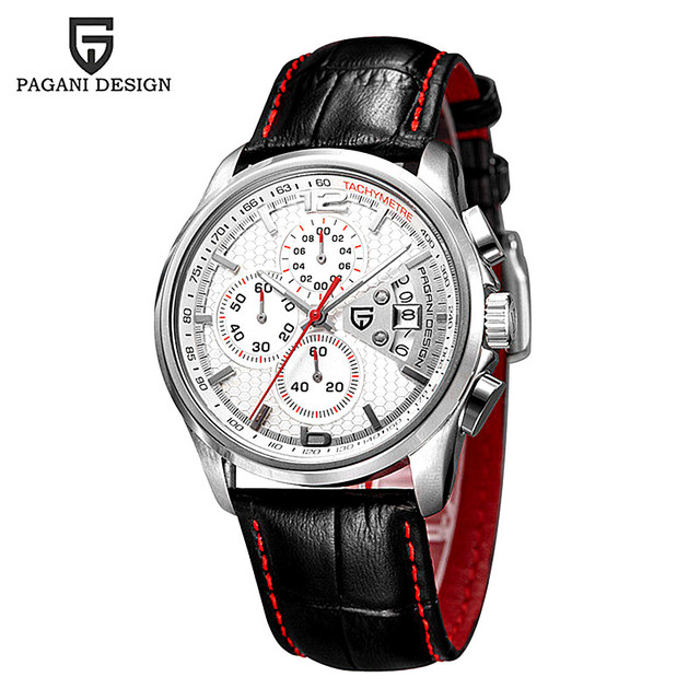 2016 Watches Men Luxury Brand Pagani Chronograph Quartz Watch Multifunctional Fashion Men's Sports Clock Relogio Masculino
