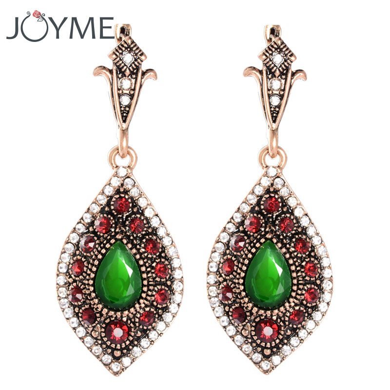 Turkish Jewelry Unique Wedding Earrings For Women Vintage Long Drop Punk Gold Ear Clip Femme Hanging Earrings Gift Brincos