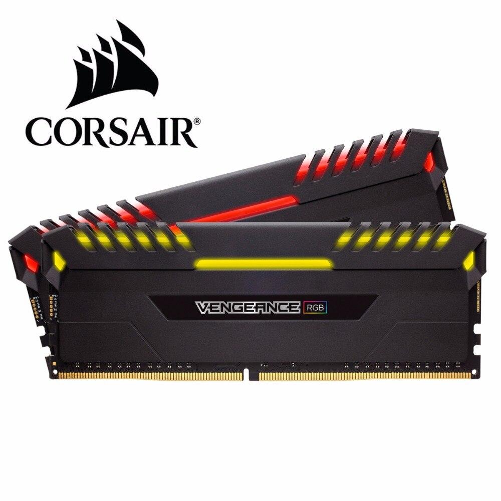 CORSAIR Original DDR4 RAM 8 GB 3000 MHz RGB PRO DIMM ordinateur de bureau de mémoire Support carte mère ddr4 3000 MHz 1.35 V RGB RAM 16 GB 32 GB