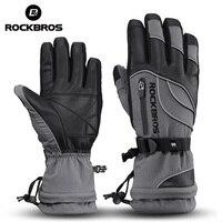 ROCKBROS Winter Cycling Gloves Thermal Waterproof Windproof Mtb Bike Gloves Skiing Hiking Snowmobile Motorcycle