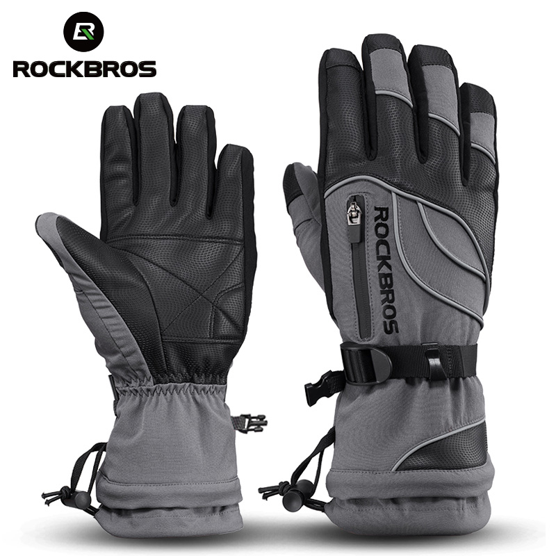 ROCKBROS Winter Cycling Gloves Thermal Waterproof Windproof Mtb Bike Gloves Skiing Hiking Snowmobile Motorcycle simpleyourstyle default e packet 10 15 business days from china to usaoutdoor sports gloves tactical mittens men women winter keep warm bicycle cycling hiking gloves full finger military motorcycle skiing gloves