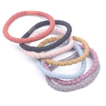 Elastic Hair Bands Solid Stretch Hair Ties For Women Girls Ponytail Holder Hair Ropes Hair Accessories headwear Scrunchy Rope akwzmly 20 pcs girls headband flower hair elastic bands scrunchy ponytail holder accessories bow animals pattern ropes ties