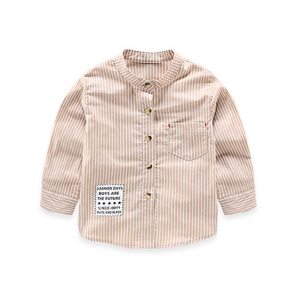 Baby Boy Long Sleeve Shirt Cotton Retro Big Boy Baby Shirt -4844