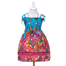 New summer girls tube top dress childrens beach strap (send necklace)
