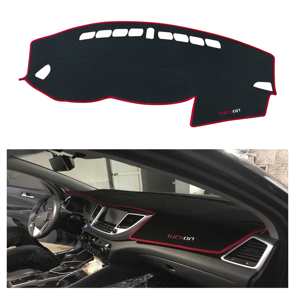Car Dashboard Avoid Light Pad for <font><b>2018</b></font> <font><b>Hyundai</b></font> <font><b>Tucson</b></font> Instrument Platform Desk Cover Mats Carpets Auto Accessories image