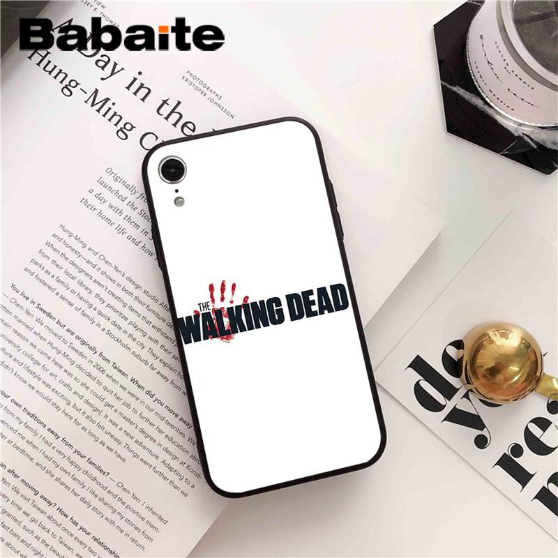 Babaite The Walking Dead Custom Photo Soft Phone Case For IPhone 8