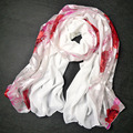 Шарф мыс двойной сгоревший шелк-сырец женская шелковый шарф солнцезащитный крем peones роза шифон шарф