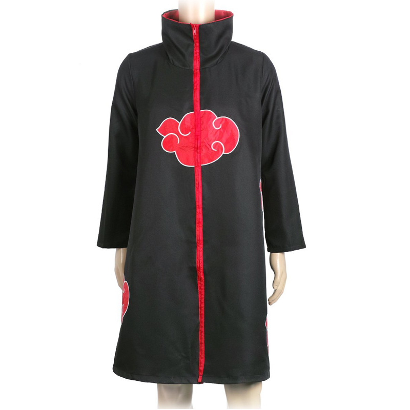 Anime Naruto Akatsuki Uchiha Itachi Cosplay Costume Cloak Cape Shoe and other Circumjacent dress