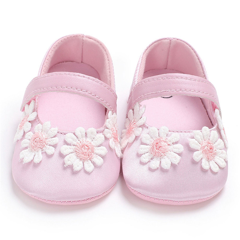 Baby Infant Kids Girl Flowers Soft Sole Crib Toddler Newborn Shoes Buciki Dla Niemowlat Calcados Infantil