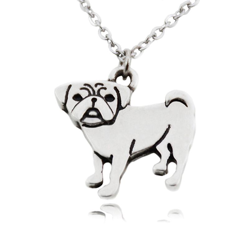 Us 14 06 40 Off New Vintage Colar Hippie Pug Long Necklace Boho Anime Dogs Pendant Best Friend Love Pet Necklaces For Women Men Jewelry Colar In