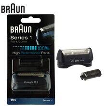 Braun 11B Elektrikli Traş Makineleri Jilet folyo & kesici için yüksek performanslı parçalar Serisi 1 bıçaklar (110 120 140 150 5684 5682 Yeni 130)