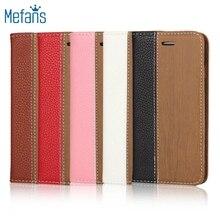 Mefans Blending stitching wood grain phone case for iPhone SE leather case flip wallet leather case for iPhone SE case
