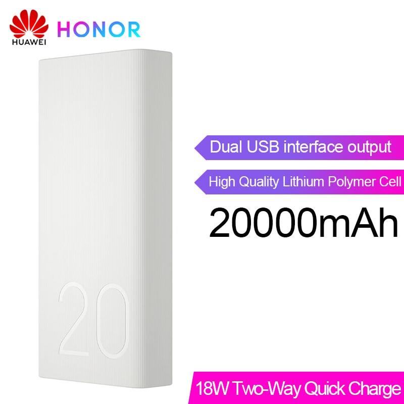 Huawei Honor batterie externe 2 20000 mAh Max 18 W Charge rapide bidirectionnelle Portable batterie externe Pack pour Honor 10 V20 Magic 2 Nova 3 4