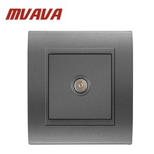 Luxury MVAVA Universal Cable TV Network Electric Wall Station Socket Outlet ,50-60HZ, 800W,Fire-proof  PC panel,Free shipping