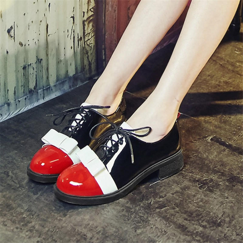 High Quality Women oxfords Platform shoes Patent Leather Tassel Slip-on pointed Creeper Lace-Up Brogue Loafers Brand Size 34-43 2017 shoes women med heels tassel slip on women pumps solid round toe high quality loafers preppy style lady casual shoes 17