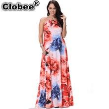 2e0a8d380b8 Sexy Plus Size Summer Dress ukraine Floral Print Maxi Dresses Women Beach  Party Ice Silk Sleeveless big swing Long Sundress
