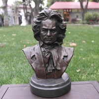 Musician Beethoven copper sculpture art portrait bronze bust figure ornaments gifts Home Furnishing jewelry