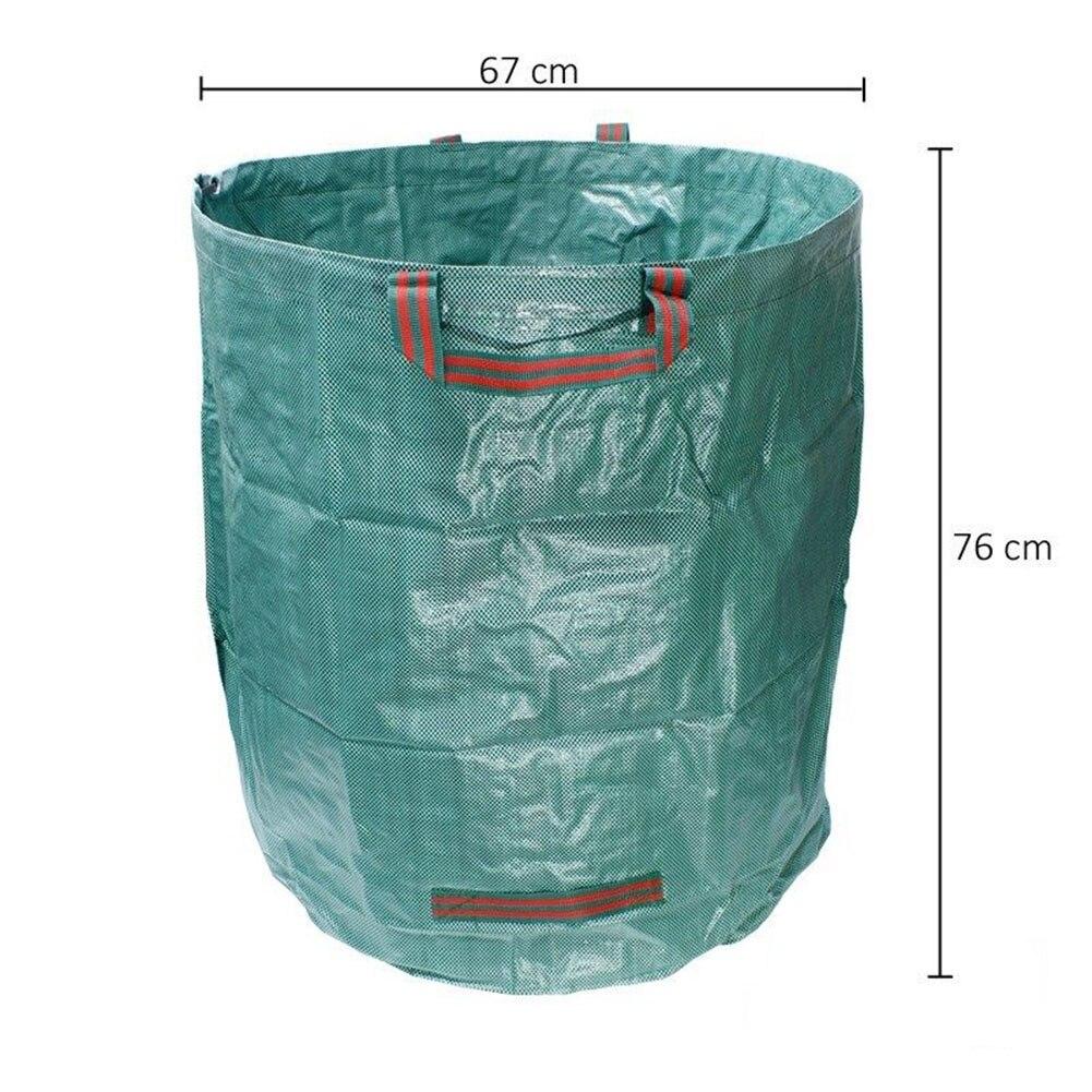 Ev ve Bahçe'ten Yard Atık Kovaları'de 272L bahçe atık torbası yeniden kullanılabilir yaprak çim çim havuzu bahçe çantaları J2Y