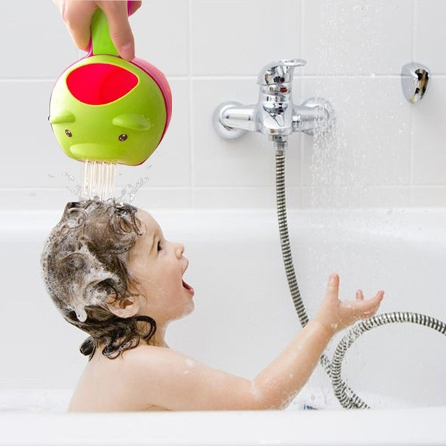 New Kids Bath Cup Baby Shower Cap Protect Shampoo Hair Wash Shield ...
