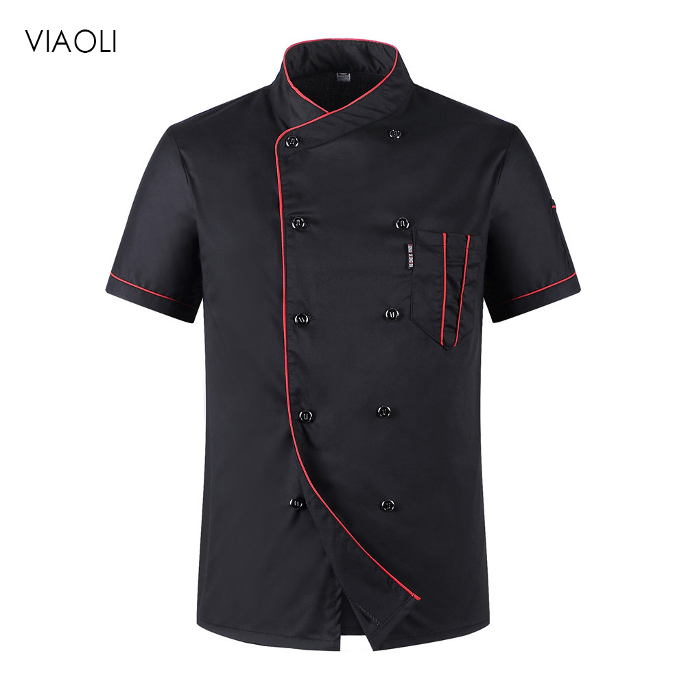 Chef Uniforms Chef Uniform Unisex Restaurant Uniform Wholesale Chef Jacket Hotel Chef's Uniform Short Sleeve Breathable Workwear