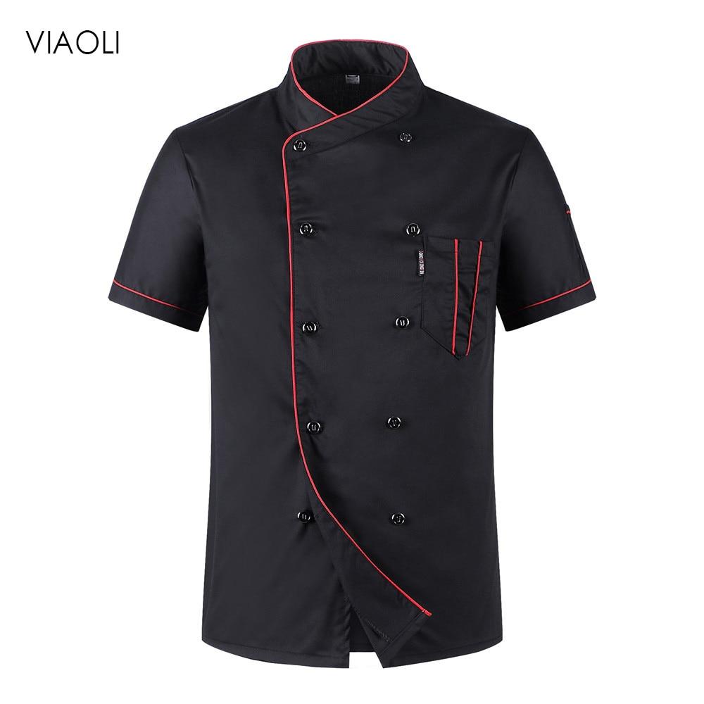 Chef Uniforms Chef Uniform Unisex Restaurant Uniform Wholesale Chef Jacket Hotel Chef's Uniform Short Sleeve Breathable Workwear