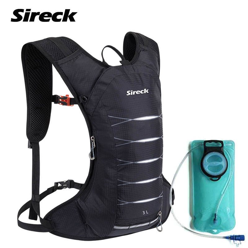 Sireck Camping Backpack 3L Waterproof Climbing Hiking Backpack Sports Running Cycling Rucksacks 2L Water Bladder Bag Camelback outdoor running cycling backpack 2l bladder water bag sports camping hiking hydration backpack riding camelback bag