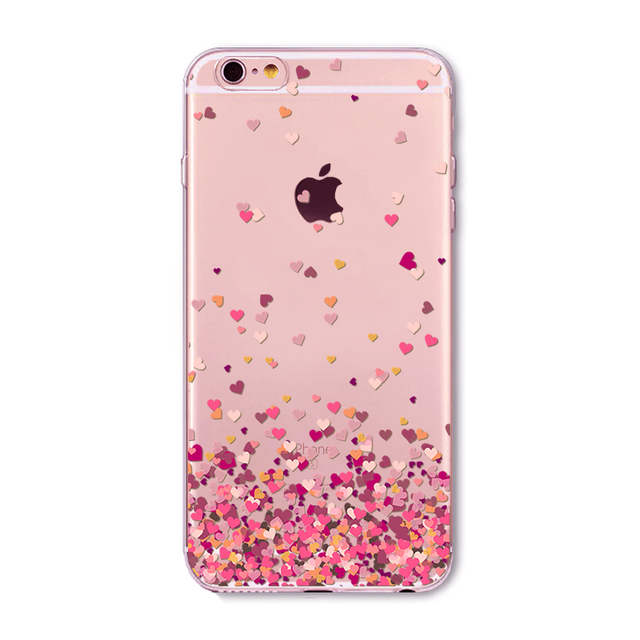 Butterfly Pink Love Heart Case For iphone 6 6s 7 5 5s se 7
