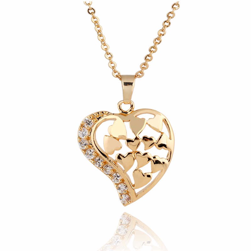 d232589d9 2016 New Fashion Jewelry Necklace Love Gold Women Chain Pendant Vintage  Novel Classic Design Necklaces Girl Party Holiday Gift
