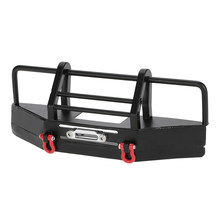 Metal Front Bumper with Trailer Buckle for 1/10 RC4WD D90 Axial SCX10 RC Rock Crawler(China)