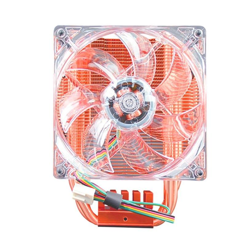 ALLOYSEED CPU Cooler Fan Fluid Bearing Copper 4 Pin Cooling Fan Fast Heat Dissipation Heatsink Radiator for AMD 2066/115X/2011 new f12738 127mm axial cooling fan large air flow two ball bearing 12v 10w fan cooler 3 pin fan connector cooling system