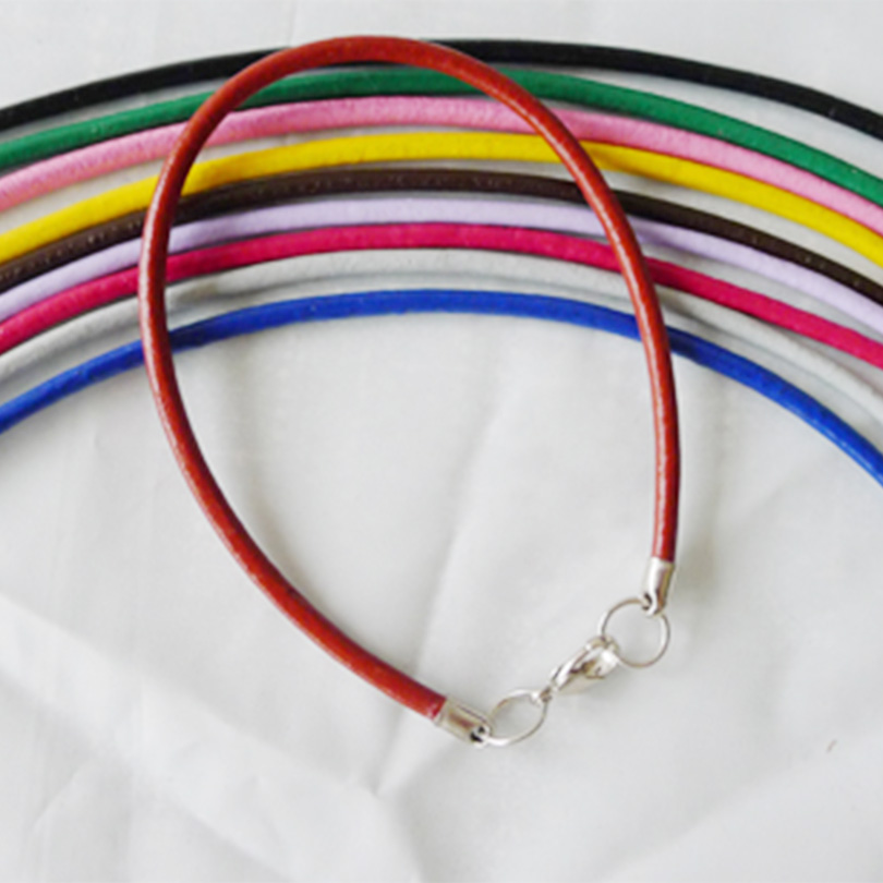 20pcs/Lot 2.5-3 Mm Waxed Cord Leather Adjustable Chains Rope Bracelets String Cord Charms Findings Lobster Clasp Strin