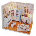 DIY Wooden Dollhouse Miniature With LED Light Piano Furnitures Dollhouse Assembling Toy Doll House Room Handcraft Toys And Gift