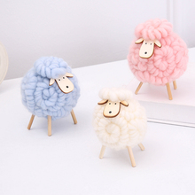 Wolvilt handgemaakte schapen desktop decoratie van hoge kwaliteit schattige mini schapen ambachtelijke beeldje thuis kerst cadeau bruiloft decoratie