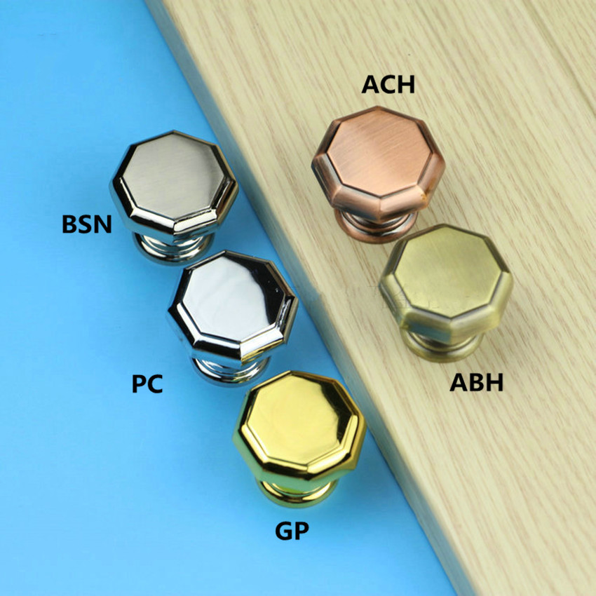 Modern simple fashion silver gold drawer shoe cabinet knobs pulls vintage style bronze antique copper dresser door handles knobs