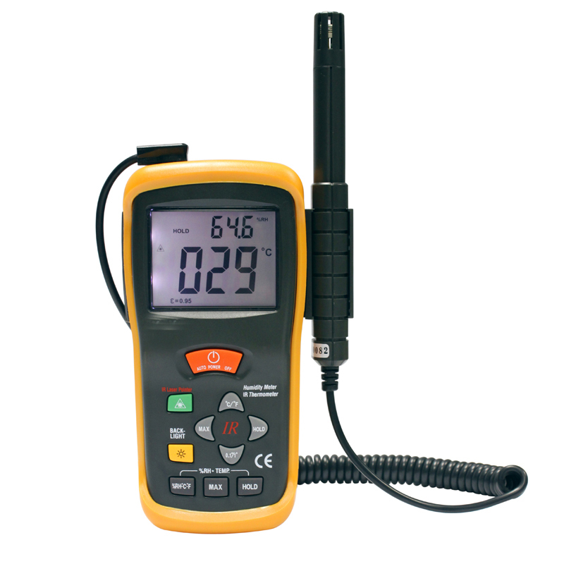 Air moisture meter Air moisture test Temperature humidity measurement With infrared measuring temperature DT 616CT