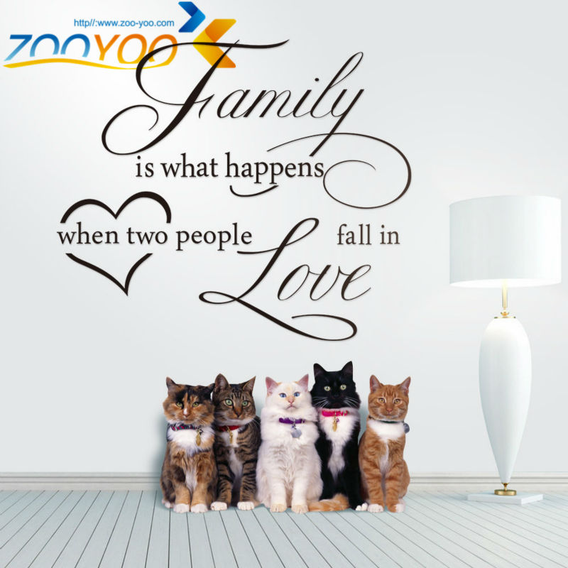 Family is what happens when fall in love quote wall decal ZooYoo8187 ...