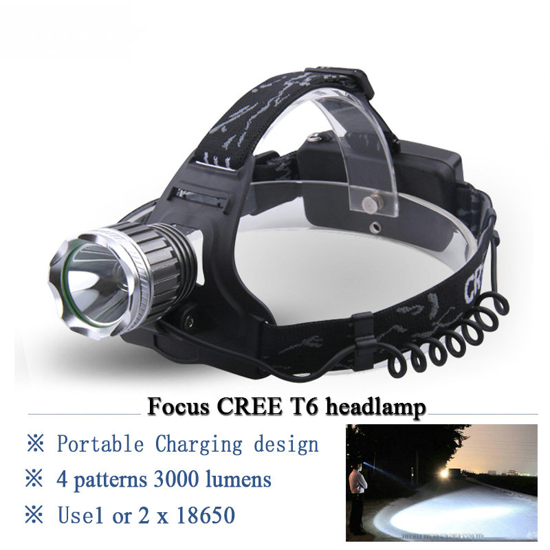 lanterna led head lamp cree xml t6 18650 Rechargeable Battery headlamp camping headlight Cycling mining Head Torch Headlamps
