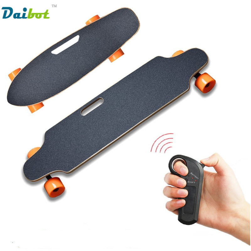 Four Wheel Electric Skateboard With Wireless Remote Controller E Skateboard Scooter Small Fish Plate Skate Board for Adults Kids outdoor 2 4g frequency wireless remote control small fish board electric skateboard motorized hub adult scooter one motor
