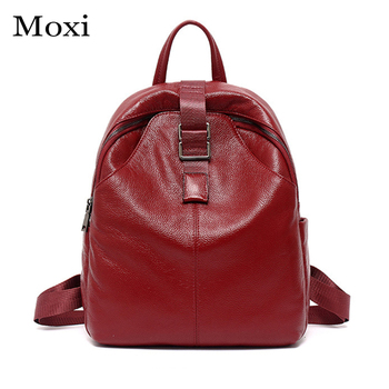New New Women Backpack Genuine Leather Female Shoulder Bag Leisure College Style School Bag All-match Backpack