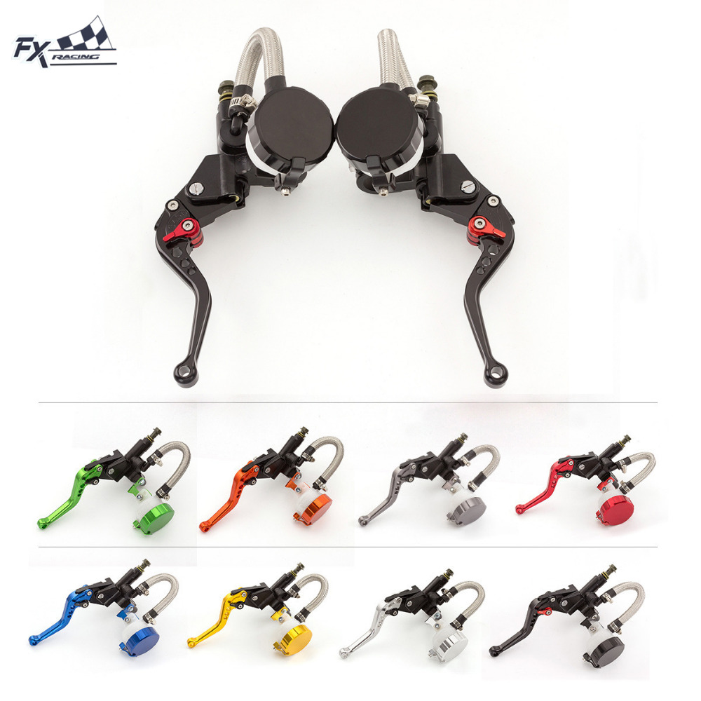 FXCNC For 125CC - 600CC Universal 7/8 Motorcycle Hydraulic Brake Clutch Lever Master Cylinder Reservoir Motorcycle Accessories fxcnc universal stunt clutch easy pull cable system motorcycles motocross for yamaha yz250 125 yz80 yz450fx wr250f wr426f wr450