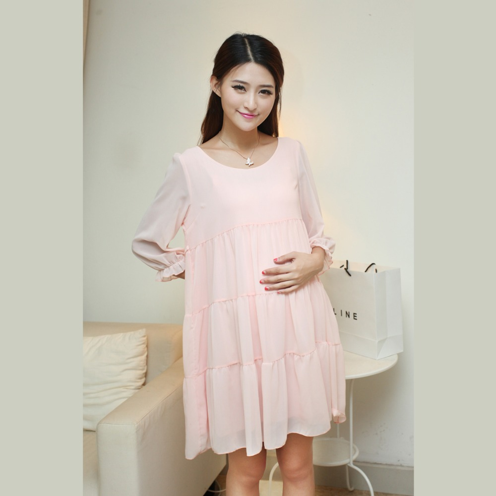 Dresses pregnant summer style 2016 chiffon women maternity cute pink dresses pregnant summer style 2016 chiffon women maternity cute pink photography jurken clothing pregnancy in dresses from mother kids on aliexpress ombrellifo Images
