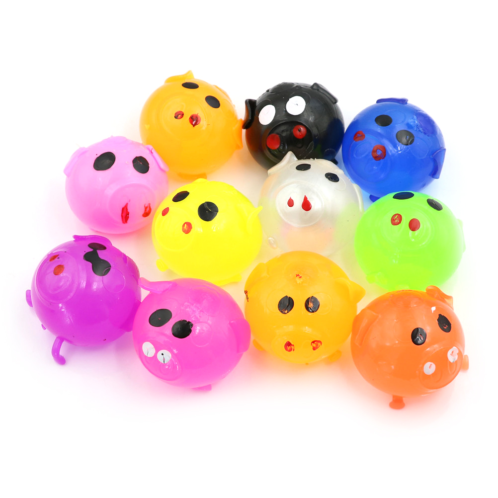 1PC Creative Vent Toys Novelty Healthy Squeeze Spoof Strange Water Eggs Pig Stress Reliever Gifts Fun Stress Relief Vent Balls