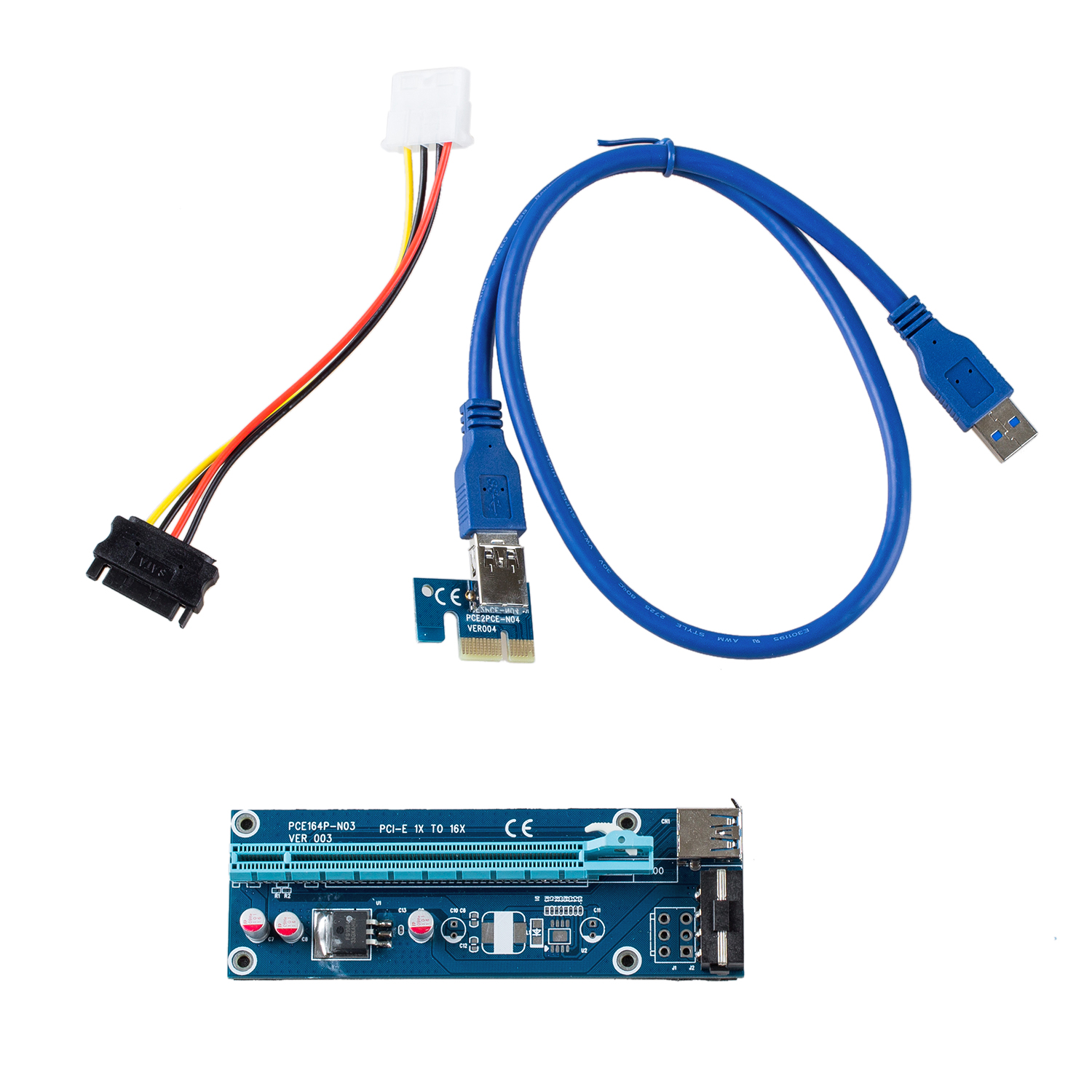 USB 3.0 PCI-E Express 1x to 16x Extender Riser Card Adapter Bitcoin Litecoin ...