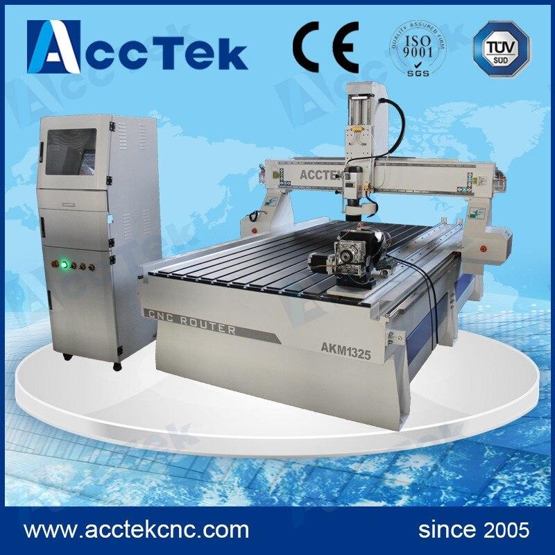 3d CNC machine à bois AKM1325 avec MACH3/MACH4 contrôleur tour bois machine