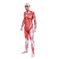 Attack On Titan Cosplay Costumes Men Titans Muscle Muscular 3D Print Adult Cosplay Jumpsuits Flesh Zentai Halloween Costume