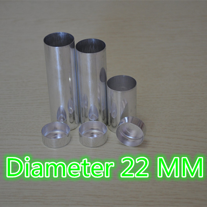200 Pieces lot OD 22 MM Dental Lab Materials Empty Cartridges With Cover Making Dentures Teeth
