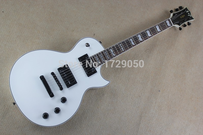 Chinese Factory Custom new custom E SP Series Eclipse II white Electric Guitar Black hardware Free Shipping 917