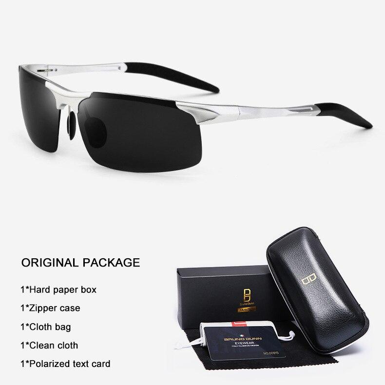 Bruno Dunn Driving polarized Men sunglasses 2020 sports High Quality UV400 Aluminum sun glasses for male oculos de sol masculino 14